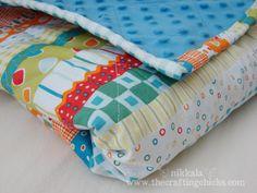 minky blanket with rolled hem