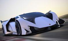 A plain body look at the race track derived Lamborghini Estampida concept