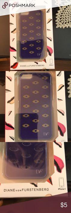 Diane von Furstenberg iPhone 5 Case Brand new iPhone 5 case with evil eye hologram. Never taken out of box, still sealed. Made with plastic. Price is firm. No trades. Diane Von Furstenberg Accessories Phone Cases