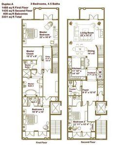 master bathroom   duplex townhouse floor plans - Google Search
