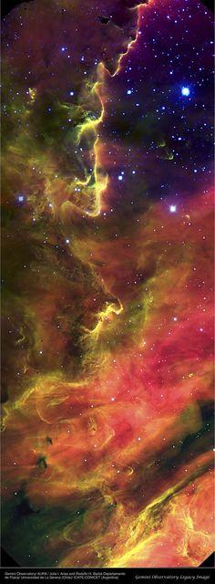 Portion of the M8 Lagoon Nebula