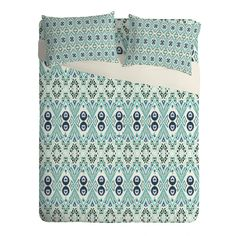 Buy Sheet Set Lightweight with Ikat Java Blue Mini designed by Amy Sia. One of many amazing home décor accessories items available at Deny Designs. Home Again, Ikat Print, Home Decor Accessories, Sheet Sets, Java, Home Goods, Mini, Prints, Pattern