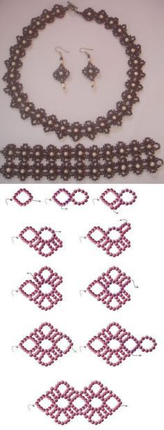 Jewelry Making Tutorials, Beading Tutorials, Beading Patterns Free, Seed Bead Crafts, Seed Bead Jewelry, Diy Collier, Beaded Necklace Patterns, Beads And Wire, Bead Crochet
