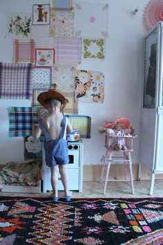 I've wanted to do a handkerchief wall for years! Remember?!   @Brenda Franklin schwecheimer