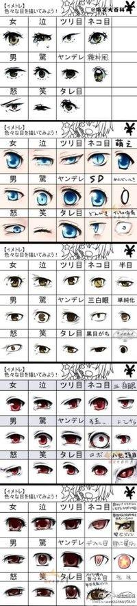 olhos anime, muito kawaii