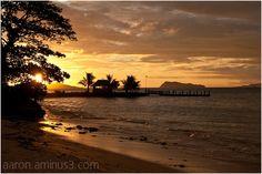 Sunset in Samoa Landscape