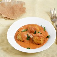 Serowo-ziemniaczane kofty w śmietanowo-pomidorowym sosie (Malai Kofta)