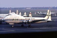 British United Airways Aviation Traders ATL-98 Carvair G-APNH at Berlin Tempelhof International Airport. Photo by Ralf Manteufel