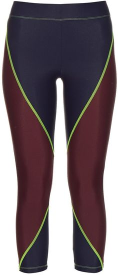 LAAIN Block-colour cropped performance leggings