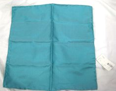 CARROT & GIBBS Turquoise Circle Suit Silk Pocket Square Handkerchief NWT $45 #CarrotGibbs #Patterned