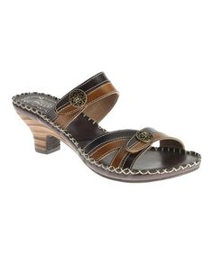 Take a look at this Brown Exotic Slide by Spring Step on #zulily today! Thinking about buying it NOW!!