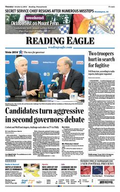 Today's front page. Oct. 2, 2014.