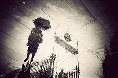 London in puddles.