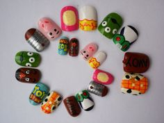 Toy Story inspired false nails via Etsy