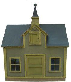 Late 19th century impressive miniature Barn from Concord, New Hampshire, with original yellow paint