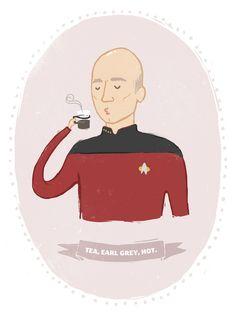 Earl Grey, Hot Art Print