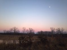 Photo of sunset at Harrier Hill, Greenport Conservation Area, Hudson, New York.