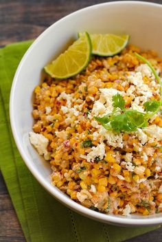 Roasted Mexican Street Corn Salad by foxeslovelemons #Salad #Corn #Mexican
