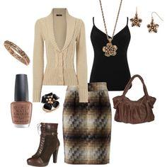 Outfit - brown heels