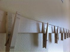 $2 Picture Hanger Kid Project...Also hanging quilts for pics