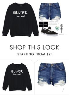"""""""Untitled #1398"""" by chill-outfits ❤ liked on Polyvore featuring Topshop and Vans"""