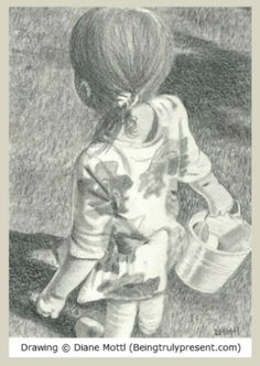 "Pencil drawing I made for post ""Easter Egg Hunts Were So Much Easier"""
