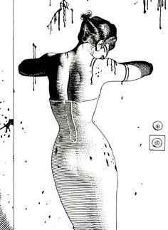 Illustration from Garras de Angel, an erotic story by Moebius & Jodorowski