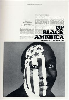 "CBS News, ""Black History: Lost, Stolen or Strayed"", Design: Lou Dorfsman, 1968"