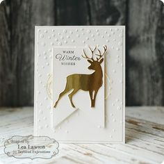 Taylored Expressions: Blog Design Team: 'White on White' Winter  Using TE's BIRCH TREE ACCESSORIES set for the stag