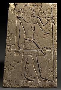 Egyptian relief of an official                Old Kingdom. 6th Dynasty, 2311-2140 BC