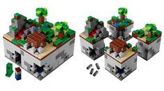 Minecraft in Lego recreation § by Gizmodo Brasil
