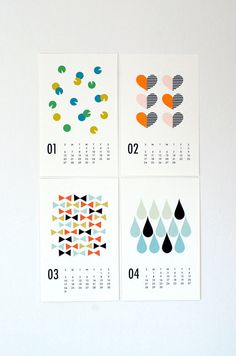 Nicely-designed calendar