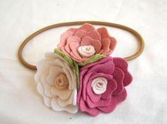 Felt flower headband.