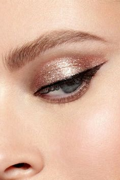 Magnificent Metals Glitter & Glow Liquid Eye Shadow Rose Gold Retro #Stila