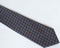 Luxury Lanvin Paris 100% Silk Geometric Crazy Pattern Tie Necktie Made in Italy #Lanvin #NeckTie