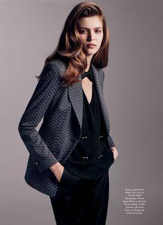 Suits You - Lara Carter by Edward Mulvihill for Harper's Bazaar Australia October 2015