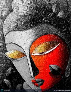 BLACK II in Painting by Dhananjay Mukherjee