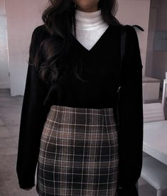 Cute Casual Outfits, Retro Outfits, Fall Outfits, Vintage Outfits, Fashion Outfits, Outfit Winter, Grunge Outfits, Hijab Fashion, Fashion Fashion