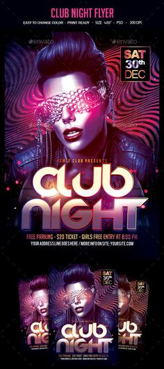 club night flyer template psd download here httpgraphicrivernet