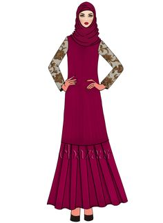 Buy Raspberry Rose Georgette Abaya online, SKU Code: This White color abaya for Women comes with Embroidered Faux Georgette. Shop Now! Diy Fashion Dresses, Islamic Clothing, Ethnic Fashion, Fashion Sketches, Different Styles, Dresses Online, Raspberry, Sewing Projects, Girls Dresses