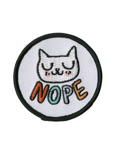 Nope Cat Iron-On Patch   Hot Topic
