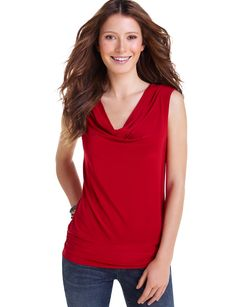 The Limited: Banded Hem Shell - Refined and polished modern knit has flattering cling in all the right places, enhanced by the draped neckline. Banded hem has side ruching that adds playful gathers. $32.90