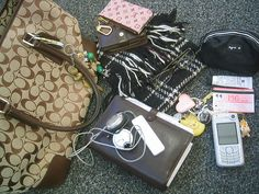inside other people's bags...