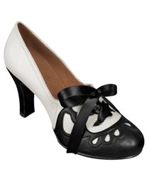 Aris Allen 1930s Black/Ivory Suede Sole Heeled Oxford ~ I simply LOVE!!