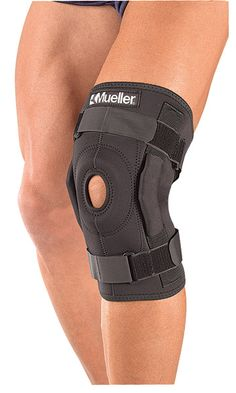 Mueller Hinged Wraparound Knee Brace Black Knee Brace Hinged Knee Brace Runners Knee