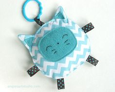 Jack the Cat Crinkle Toy comes with Teething Ring Link - Great Baby Gift