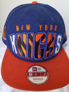 20a6aa4e1df NBA Used New ERA HAT CAP FITTED 59FIFTY NEW YORK KNICKS Med to Large Cap