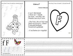 Litera F mare de tipar și de mână Kids Education, Word Search, Diagram, Learning To Write, Reading, Early Education