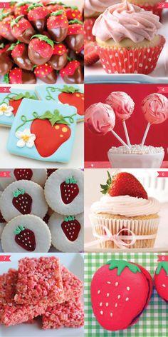 First Birthday Theme Girl, First Birthday Parties, First Birthdays, 2nd Birthday, Birthday Ideas, Strawberry Shortcake Birthday, Strawberry Baby, Party Treats, Krispie Treats