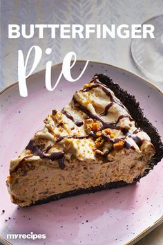 For and easy dessert that's sure to please, look no further than our decadent Butterfinger Pie. Although it takes only 15 minutes to whip up, this Sweets Recipes, Pie Recipes, Baking Recipes, Cool Whip Pies, Butterfinger Pie, Biscuits, Butter Pie, Peanut Butter, Easy Holiday Desserts